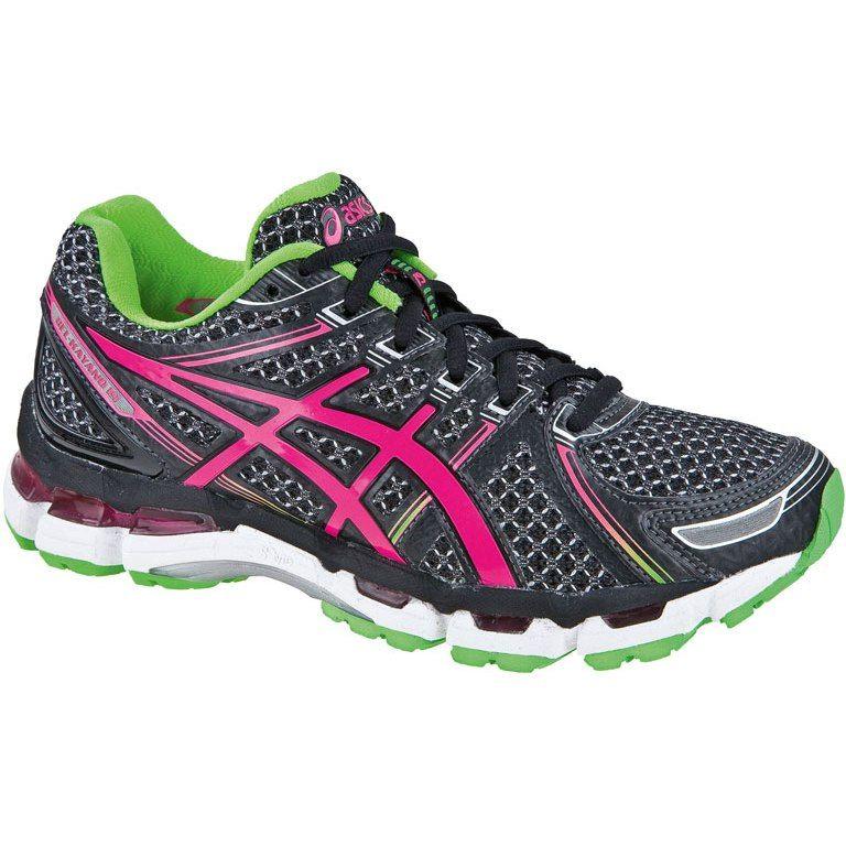 Bike24 Asics Gel Kayano 19 Women Running Shoe Black Electric Pink Black Running Shoes Asics Gel Kayano 19 Womens Running Shoes