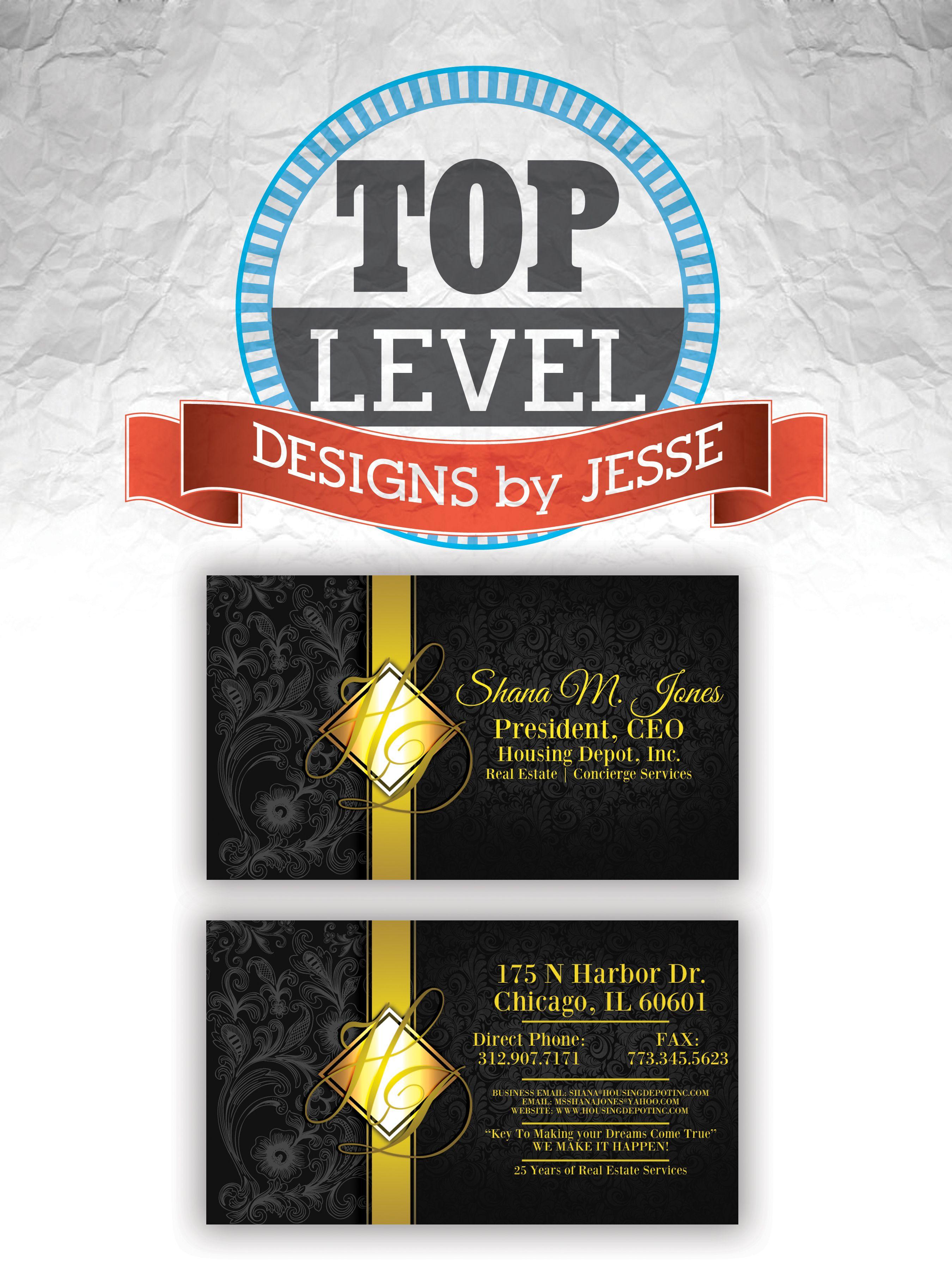 Housing Depot business card design | Top Level Business Card Designs ...