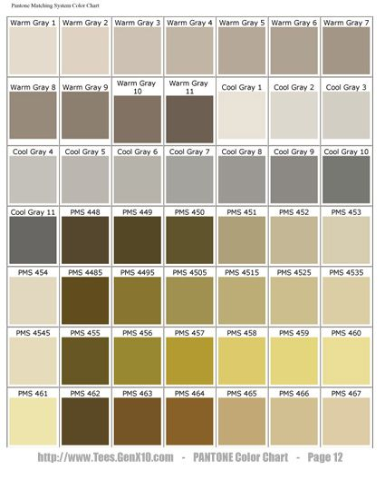 Pantone Color Chart Pms Screen Printing Colors That Move You