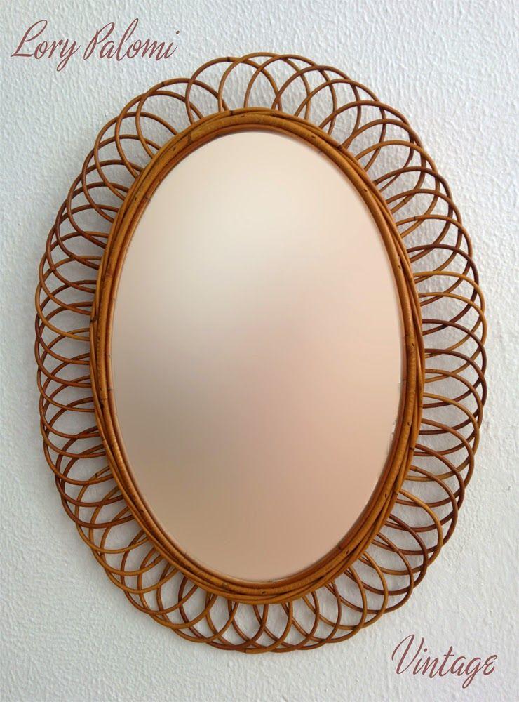 Lorypalomi espejo sol oval mimbre bamb ca a ratan for Espejo 70 mendoza