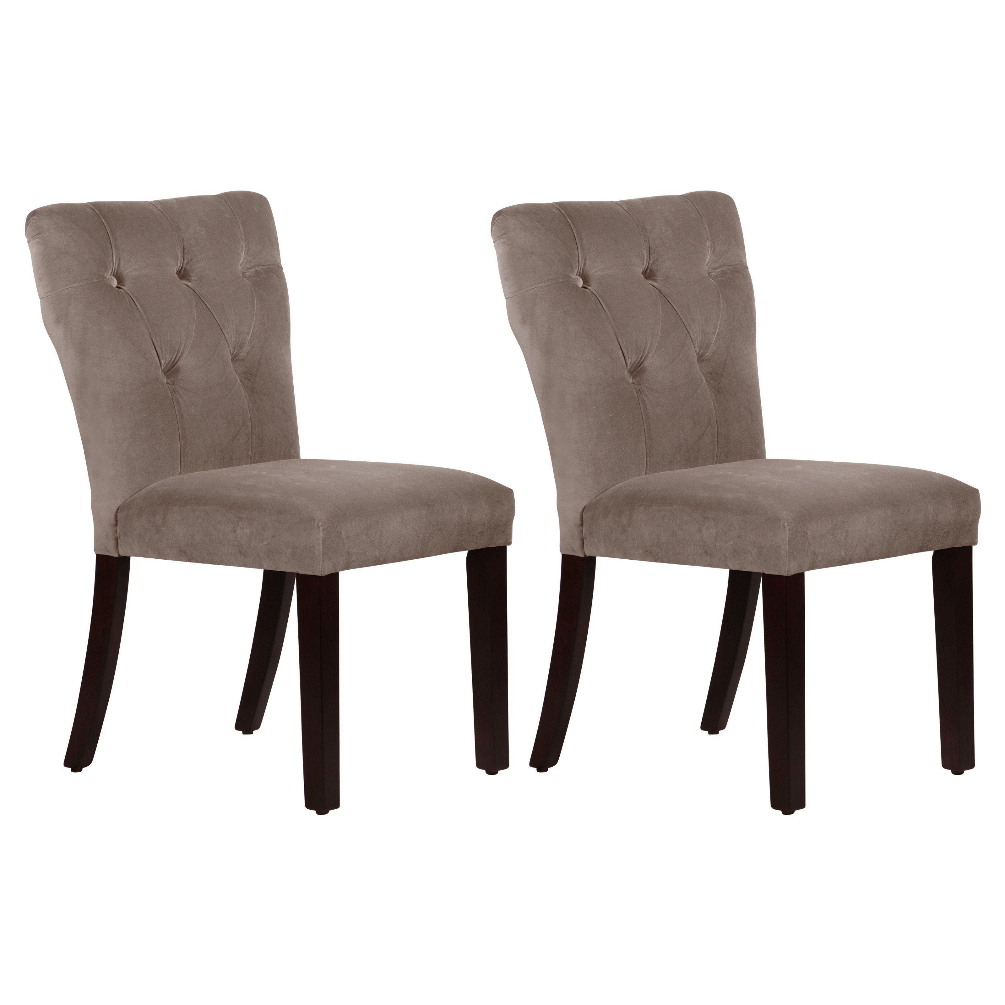 Skyline Tufted Hourgl Dining Chair Set Of 2 65 6esprglsmkset2