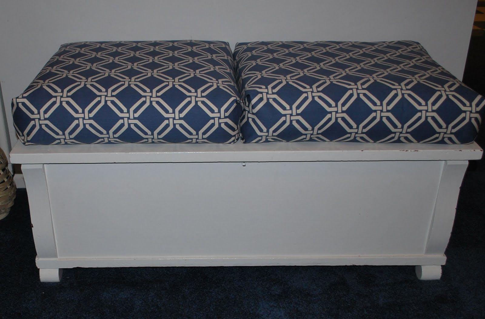 Almost No Sew Box Cushions Sewing Cushions Box Cushion