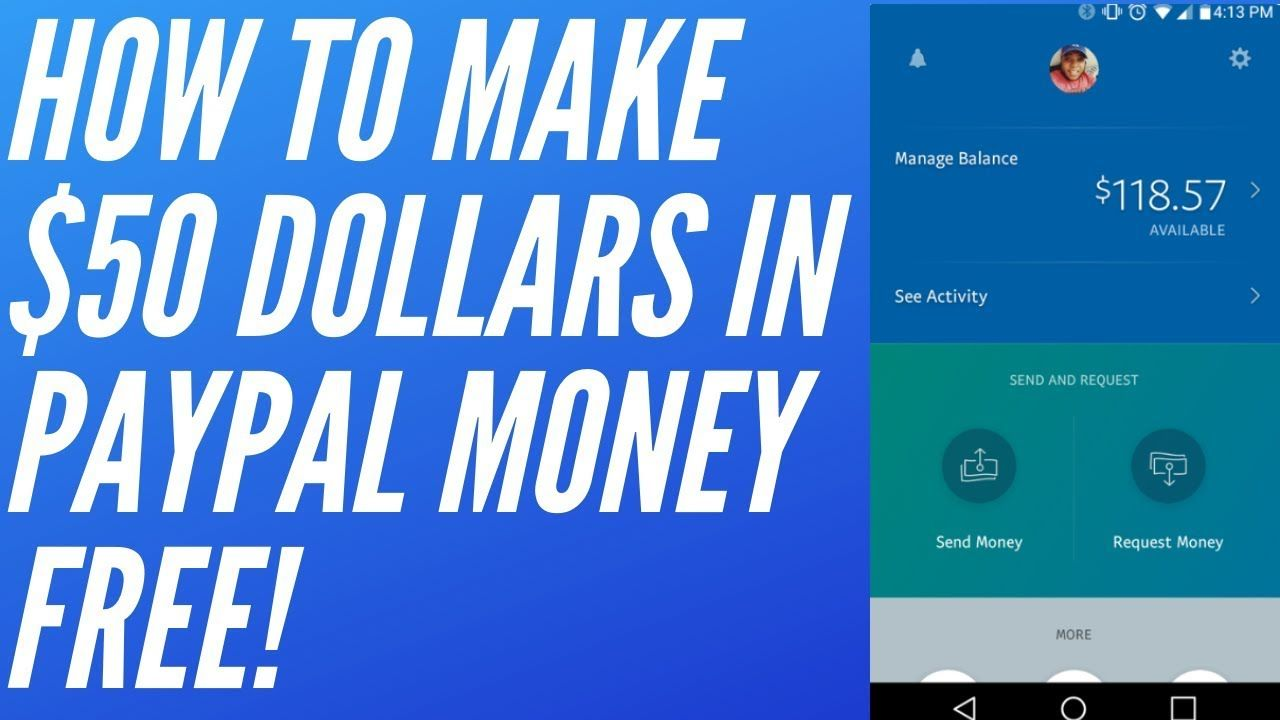 How To Make 50 Dollars In PayPal Money Free In 10 Minutes