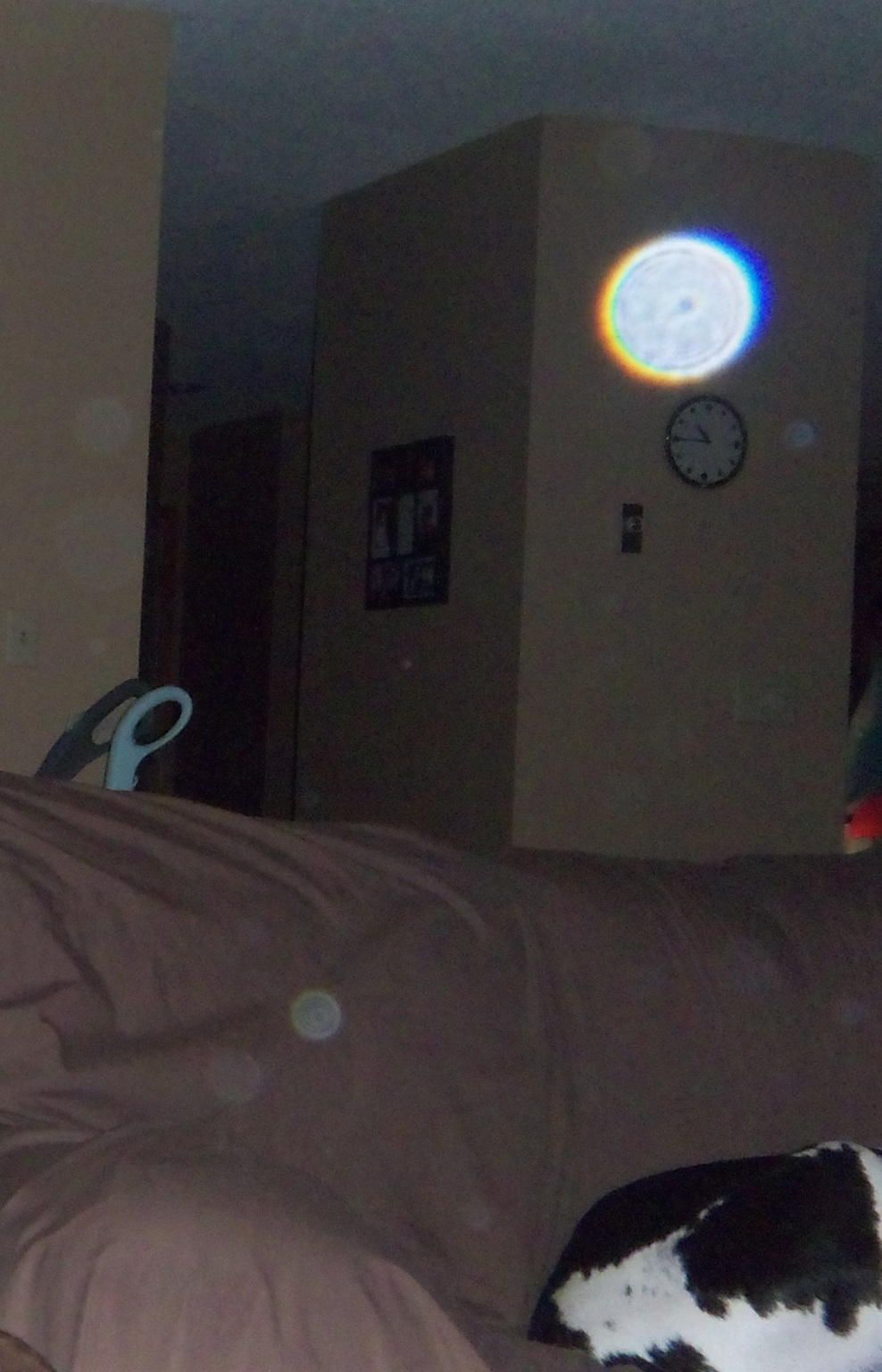 my daughters house, started seeing orbs in pictures after