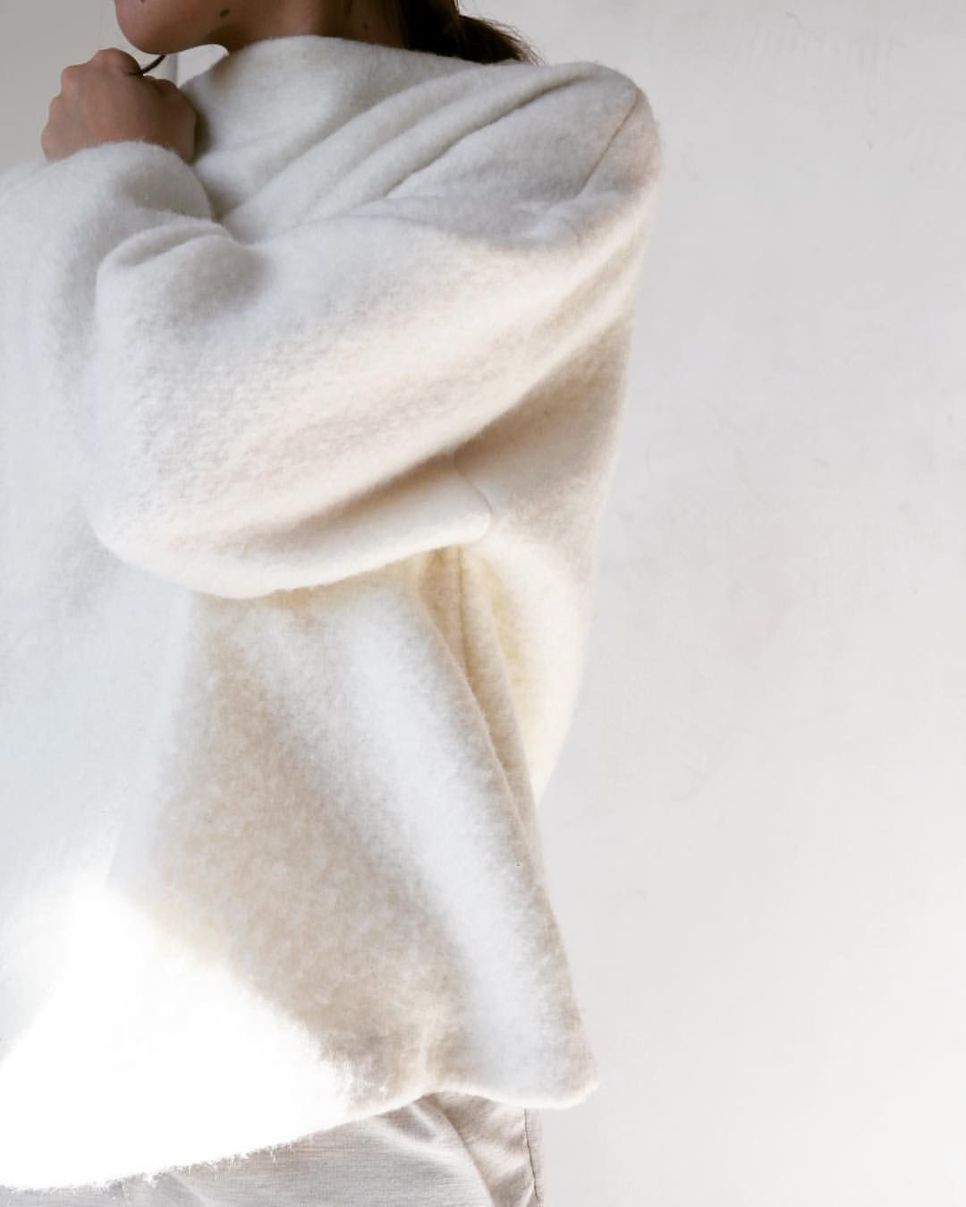 "hackwithdesignhouse: "" Feeling cozy in our creamy white High-Neck ..."