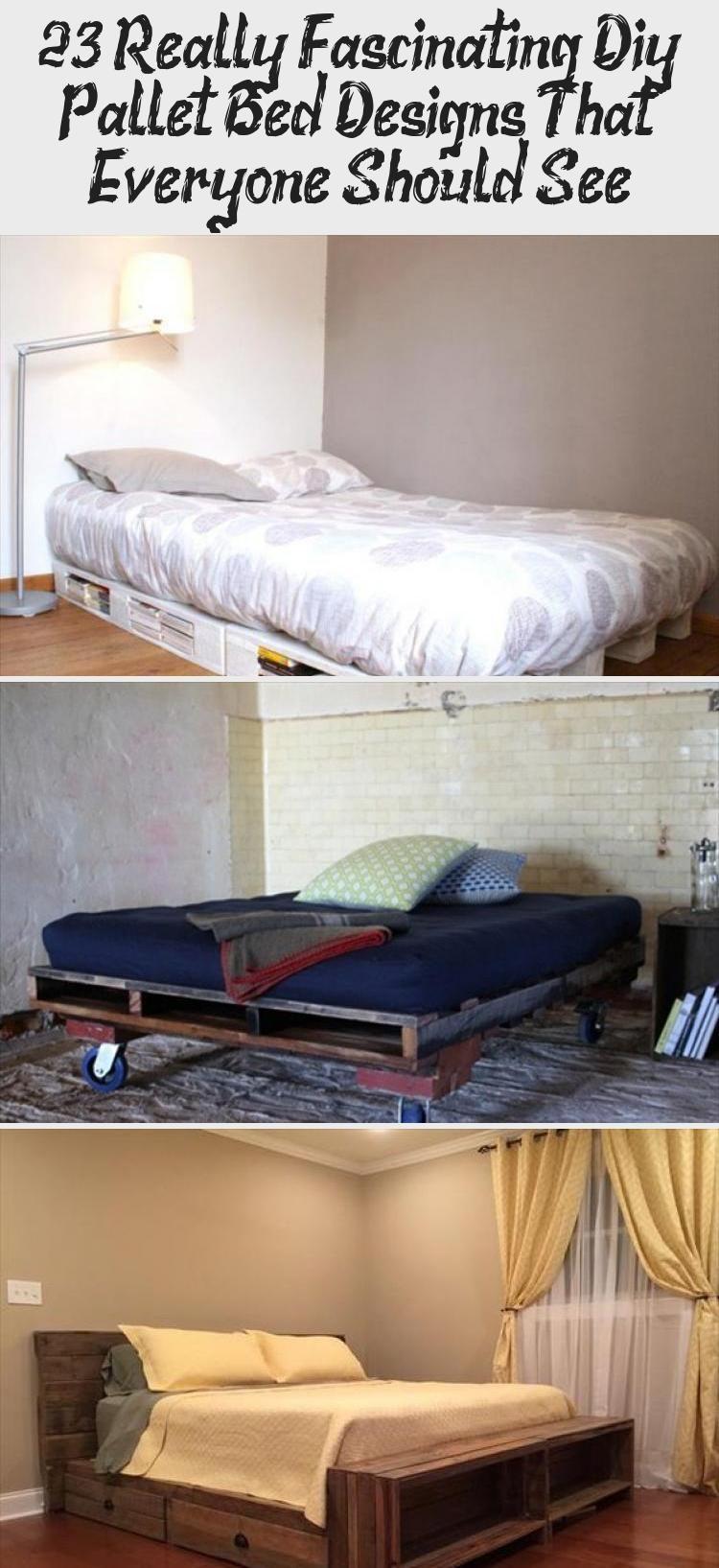 23 Really Fascinating Diy Pallet Bed Designs That Everyone Should See Diy Pallet Bed Bed Frame Headboard Bed Design