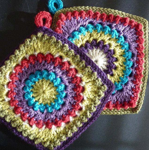 Circle of Friends potholders