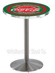 Coca Cola Pub Table   L214   42 Stainless Steel Coca Cola Pub Table