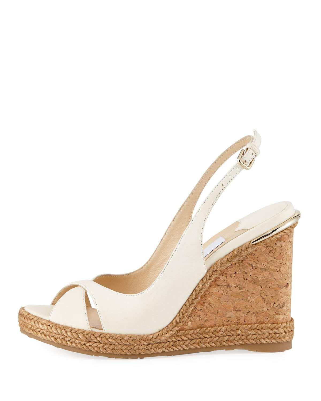 c16cd9068884 Jimmy Choo Amely Leather Cork Wedge Sandal Wedge Sandals