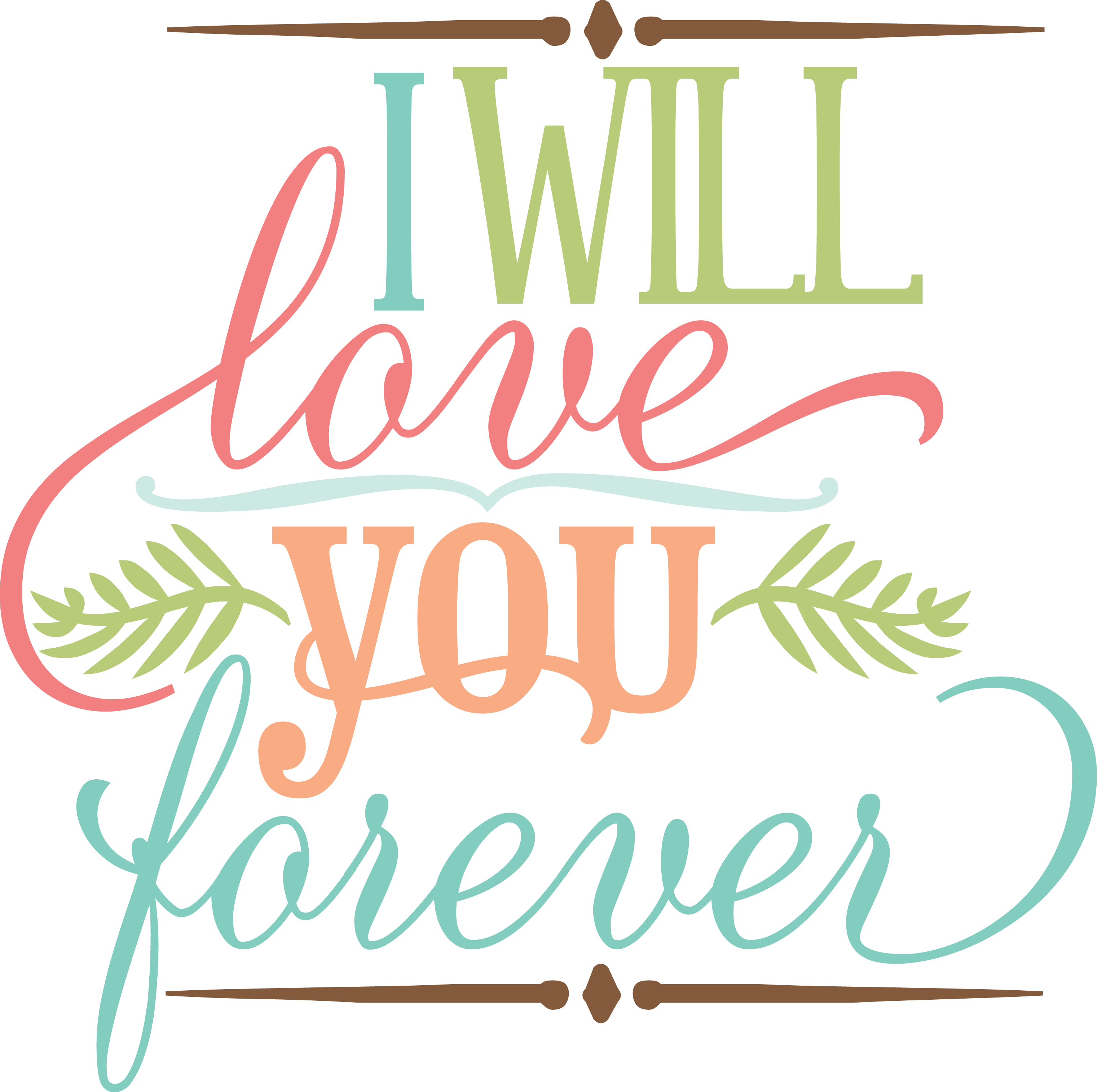Download MKC_I Will Love You Forever SVG | Free love quotes, Love ...