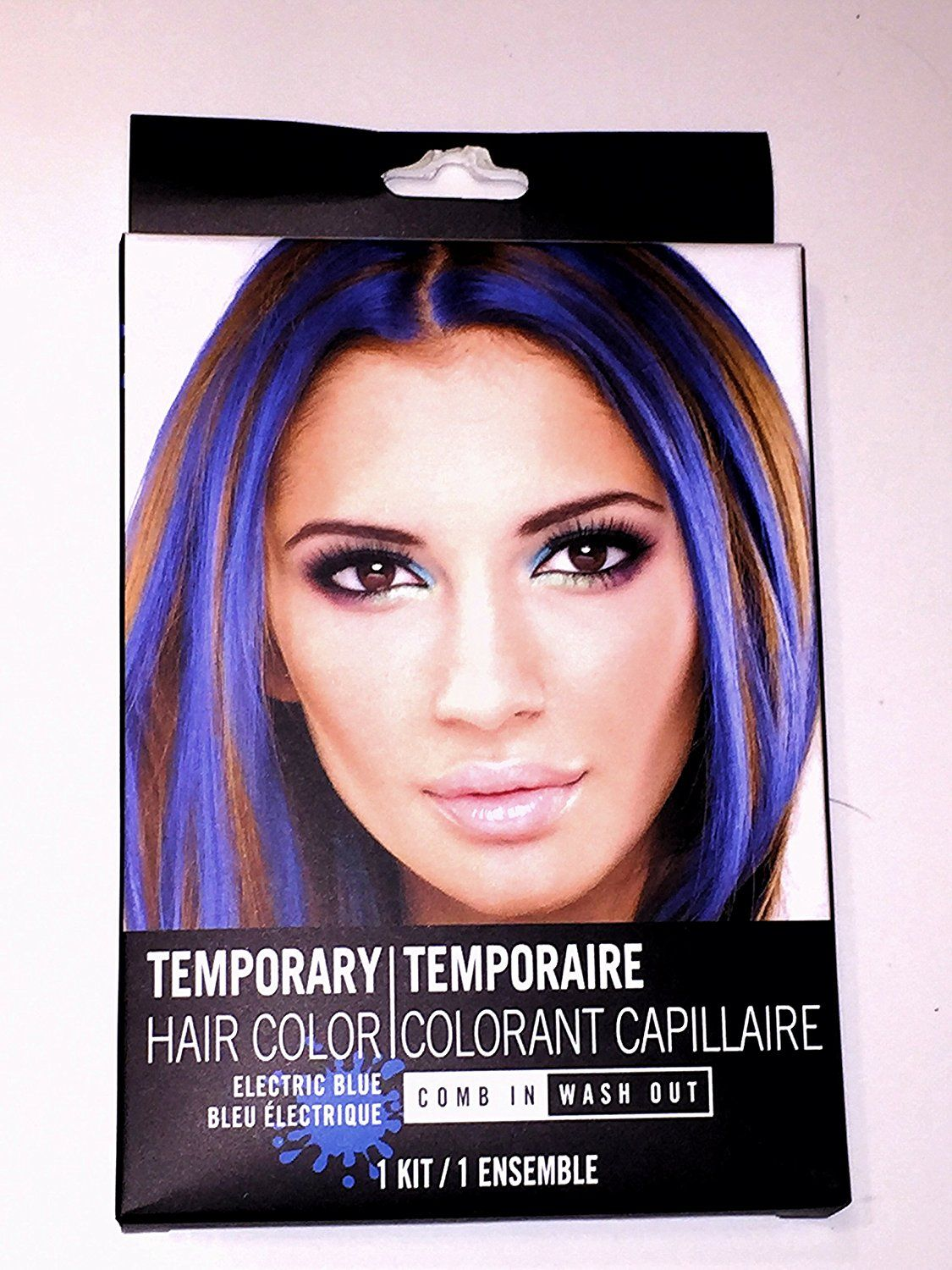 electric blue temporary hair color