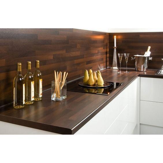 Arbeitsplatte 60 cm x 3,9 cm Noce Holznachbildung (BBL 714) - küchenarbeitsplatten online kaufen