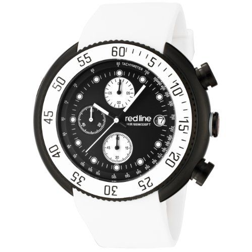 red line men 27s 50038 bb 01 wht driver chronograph black dial white