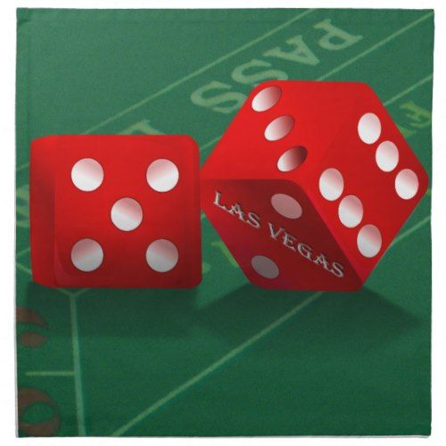 Craps Table With Las Vegas Dice Cloth Napkin (With Images