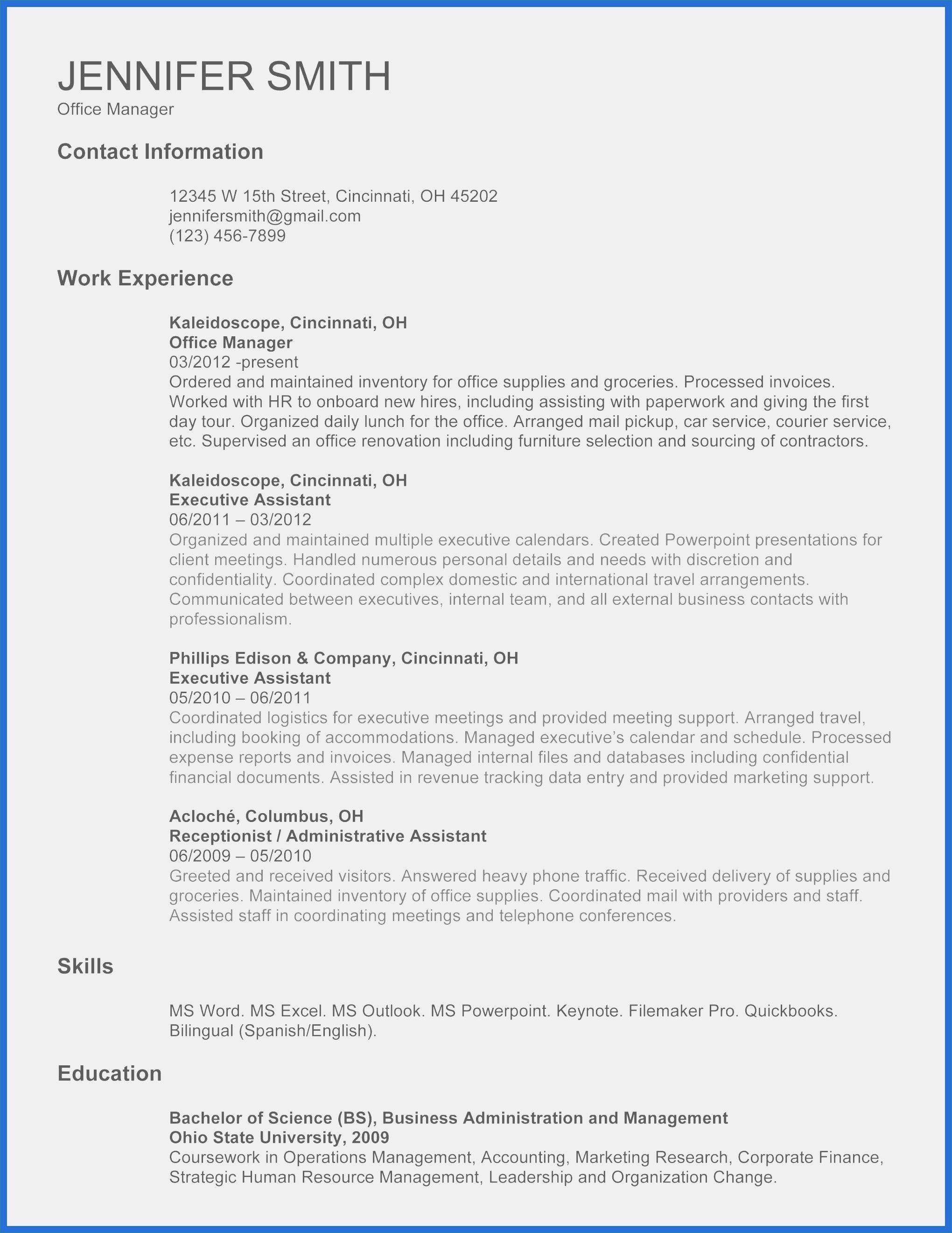 Resume Templates For Interns Professionelle Bewerbung Brief Bewerbung