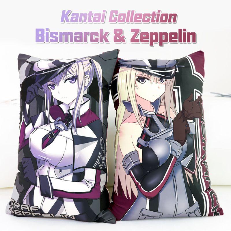 Japanese Anime Kantai Collection Bismarck Zeppelin Hugging