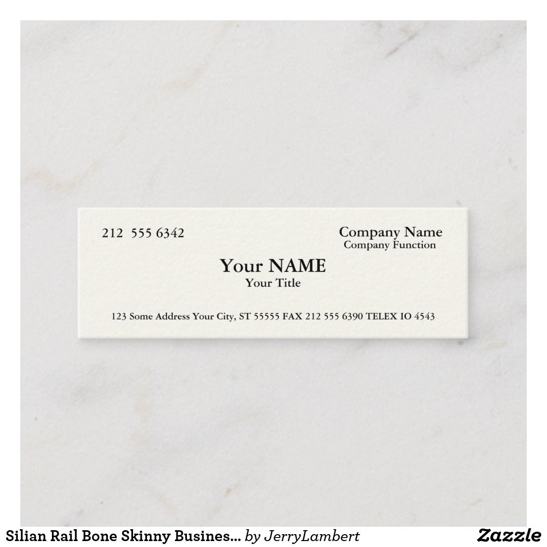 Silian Rail Bone Skinny Business Cards Zazzle Com Paper Texture Printing Double Sided Business