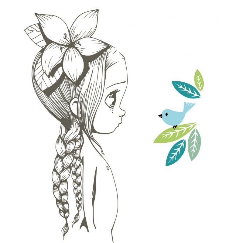 Stickers fille Wild girl 06 Emmanuelle Colin Emmanuelle Colin