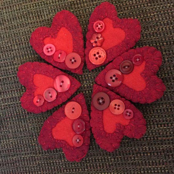 Long Heart Felt Pin/Brooch by NoraKLovelyCreations on Etsy