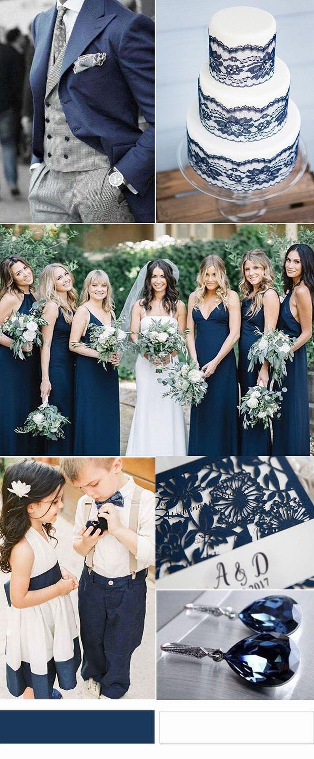 Pin by Miakoda Dreams on wedding in 2019  Wedding Wedding bridesmaids Navy blue wedding theme