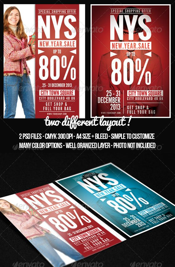 Store Sale Flyer Template | Valentines, Shopping mall and Fonts