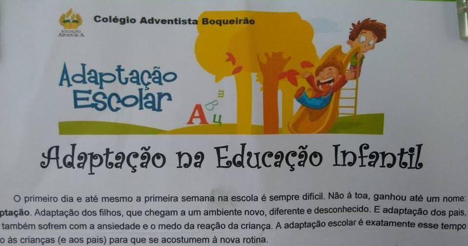 Adaptacao Na Educacao Infantil Educacao Infantil Educacao