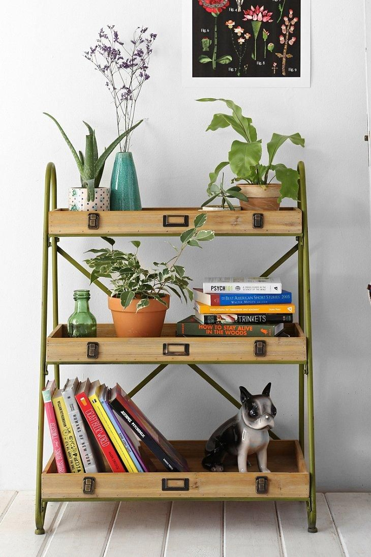 Tiered ladder shelf shelves interiors and apartments