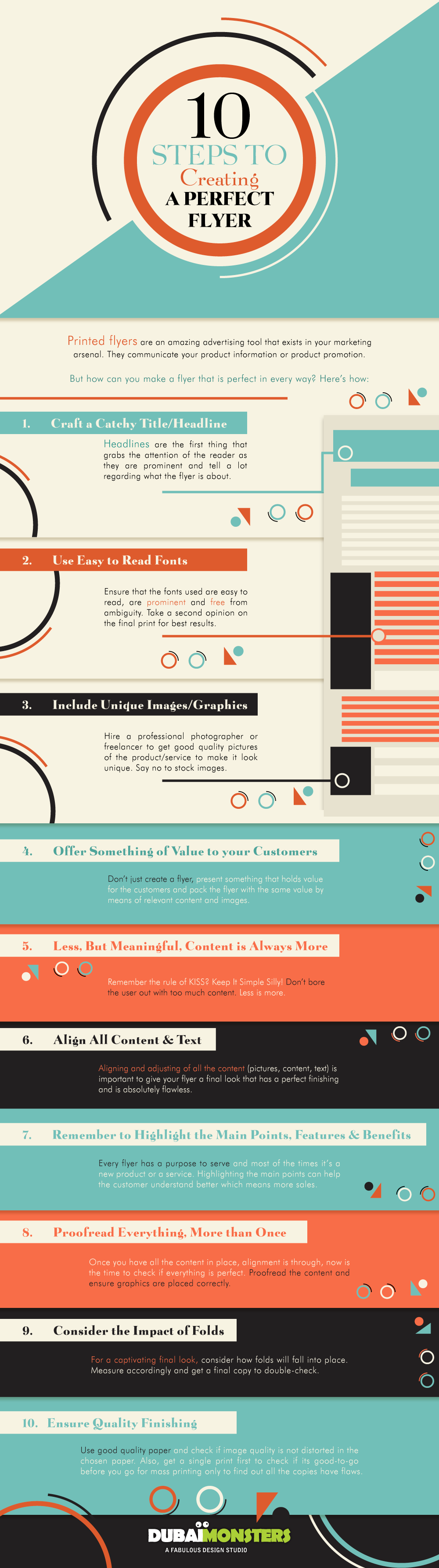 10 Steps To Creating a Perfect Flyer #Infographic