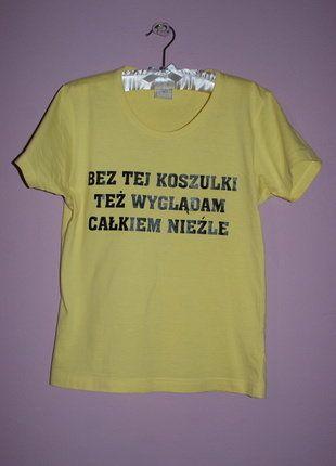 Zolta Koszulka Z Napisaem Allegro