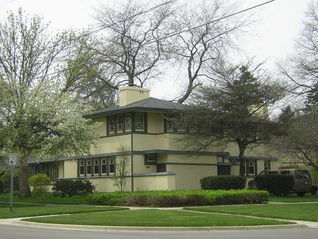 William B Greene House 1912 Aurora Il Frank Lloyd Wright Homes Frank Lloyd Wright House Styles