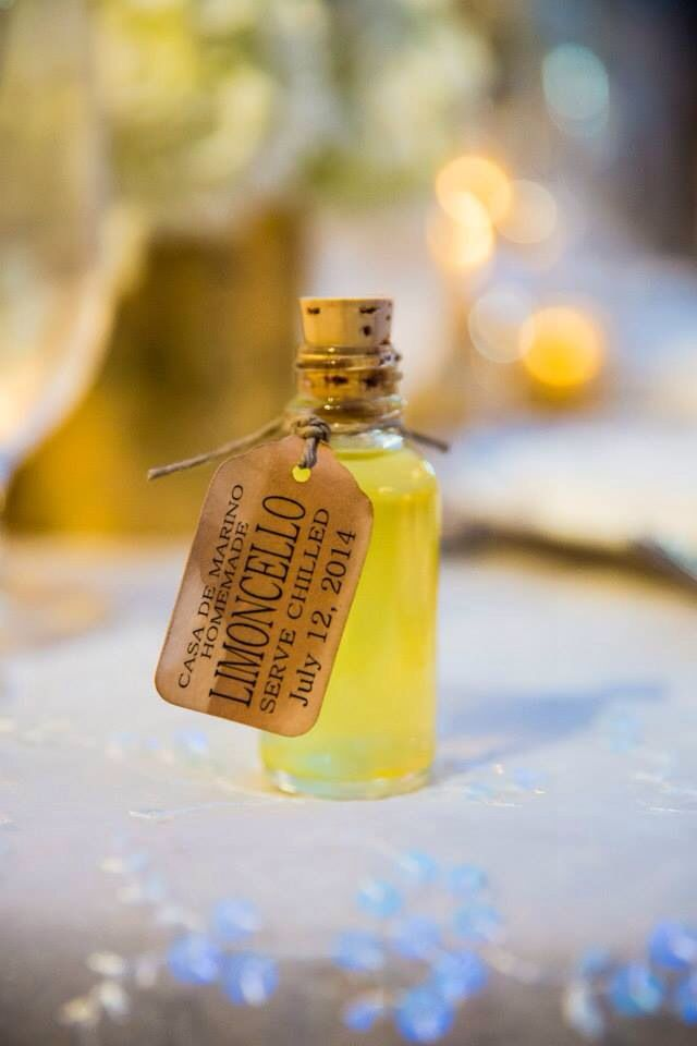 Homemade Limoncello Wedding Favors Weddingshower Pinterest