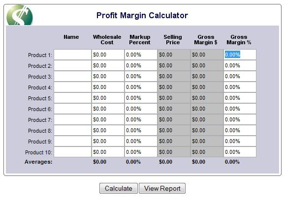 Profit Margin Calculator  Retail    Calculator