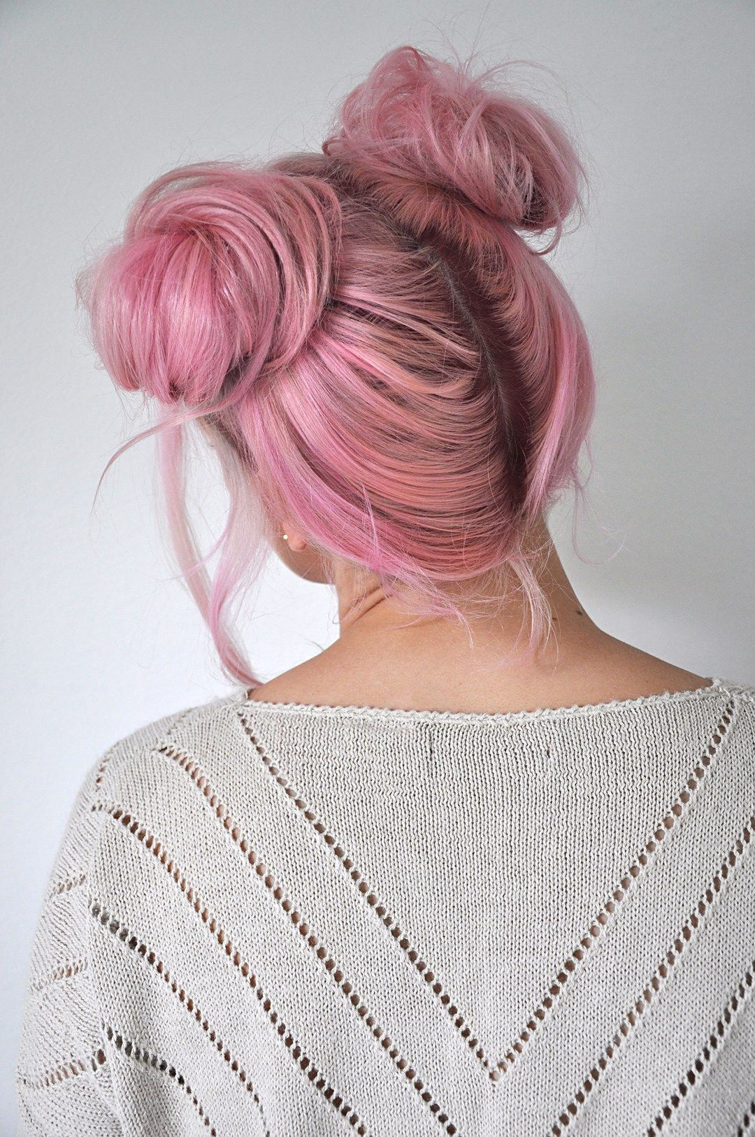 Quick and easy space buns hairstyle tutorial bun hairstyle
