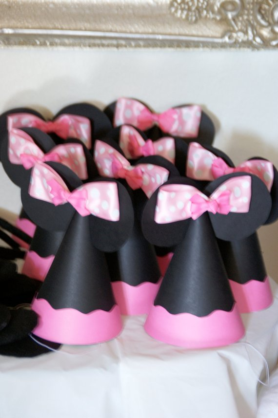 Disney Inspired Party Hats Minnie Mouse 1st
