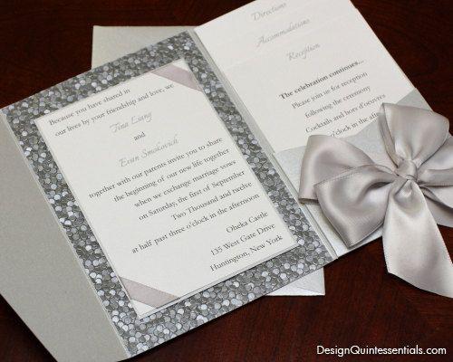 17 Best images about Wedding invitation – Embossed Pocket Wedding Invitations