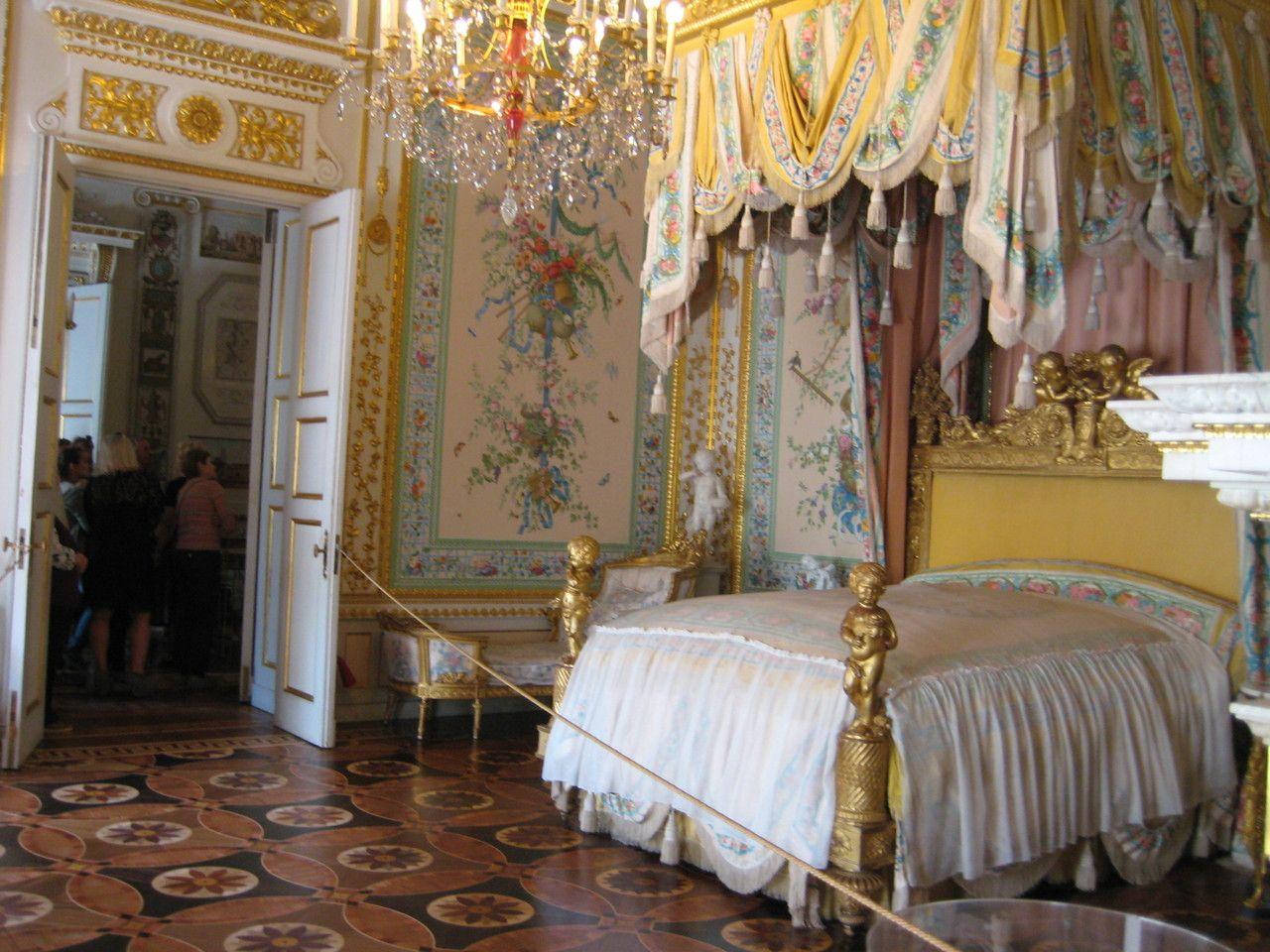 Besichtigung Der Residenz Pawlowsk Zimmer Schlafzimmer Besichtigung