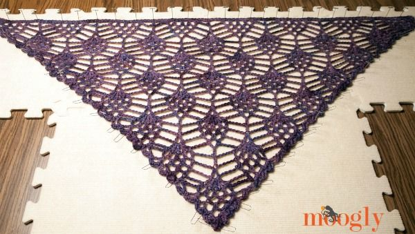 crochet patterns for hair triangles   Block using water or steam to open up lace pattern, pinning as needed ...