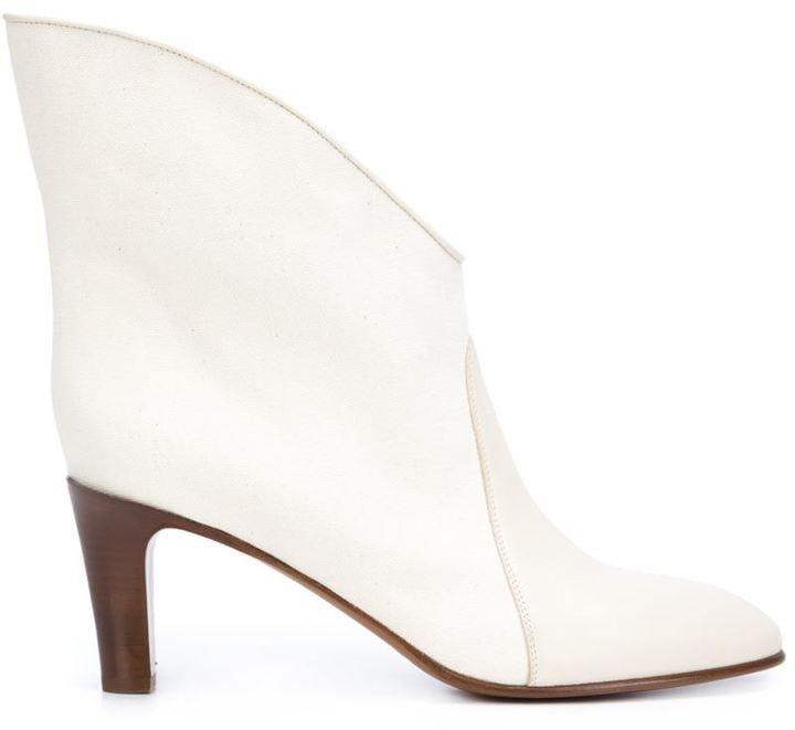 2a438af4dd Chloé 'Kole' ankle boots White Leather Boots, White Ankle Boots, Leather  Booties