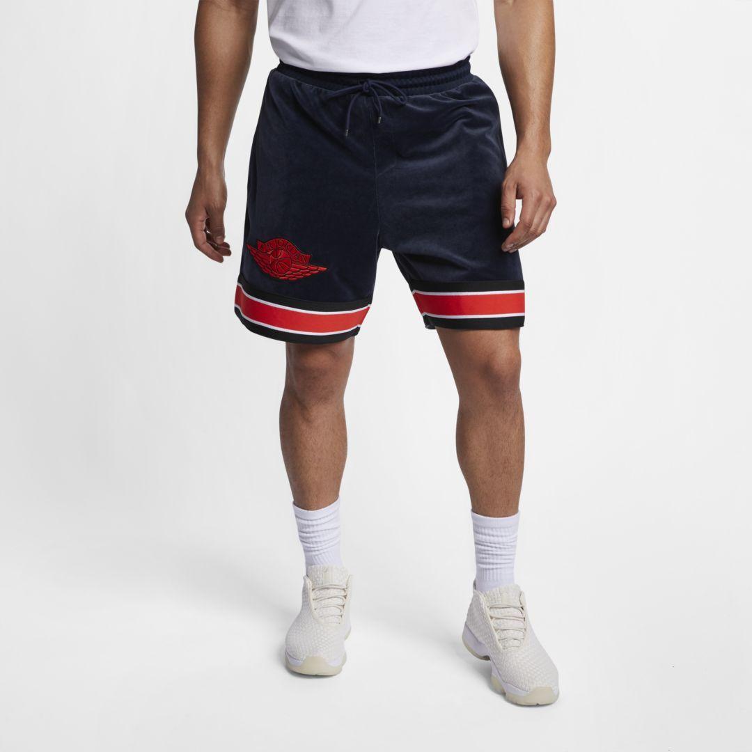50f450a1ba8f Jordan Gold Chain Men s Shorts Size 4XL (Obsidian)