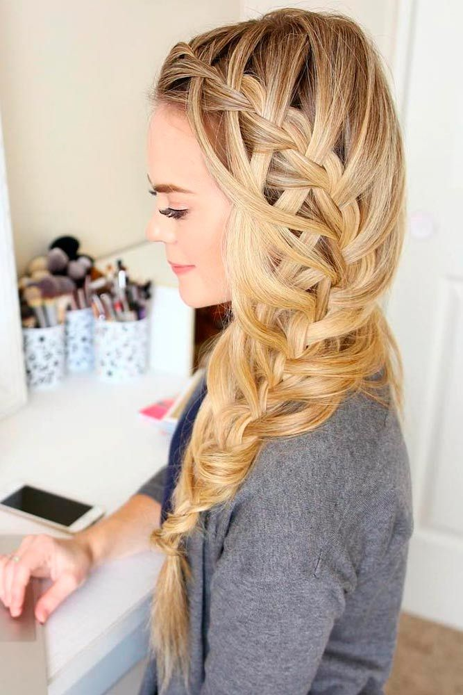 42 Super Cute Christmas Hairstyles For Long Hair Girly Hairstyles Hair Styles Cute Wedding Hairstyles