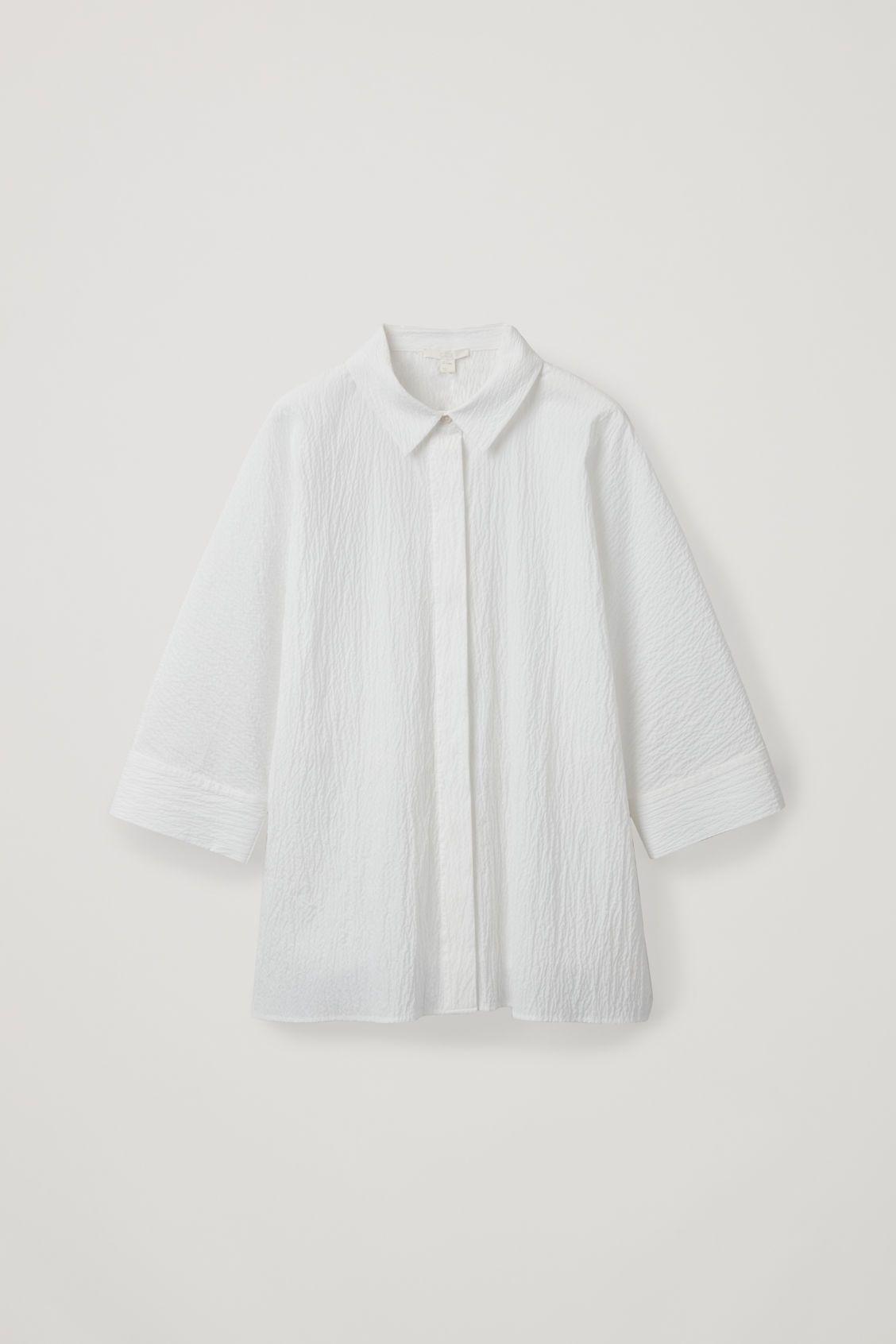 Loose Fit Seersucker Shirt Seersucker Shirt Womens Shirts