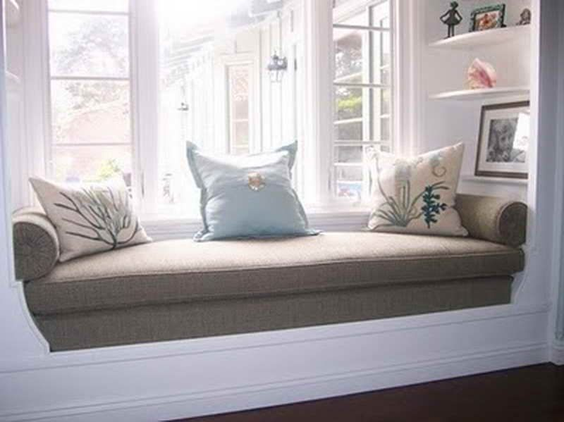 Door Windows Installing The New Window Seat Cushions Custom With White Color Installing The New Window Seat Cushions Custom Window Bench Cushions How