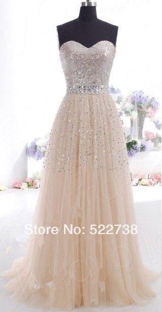 7df0285b65 envío gratis champán vestido de noche 2014 nuevo elie saab de cristal a largo  vestido de noche fiesta por la noche elegante vestido de noche formal