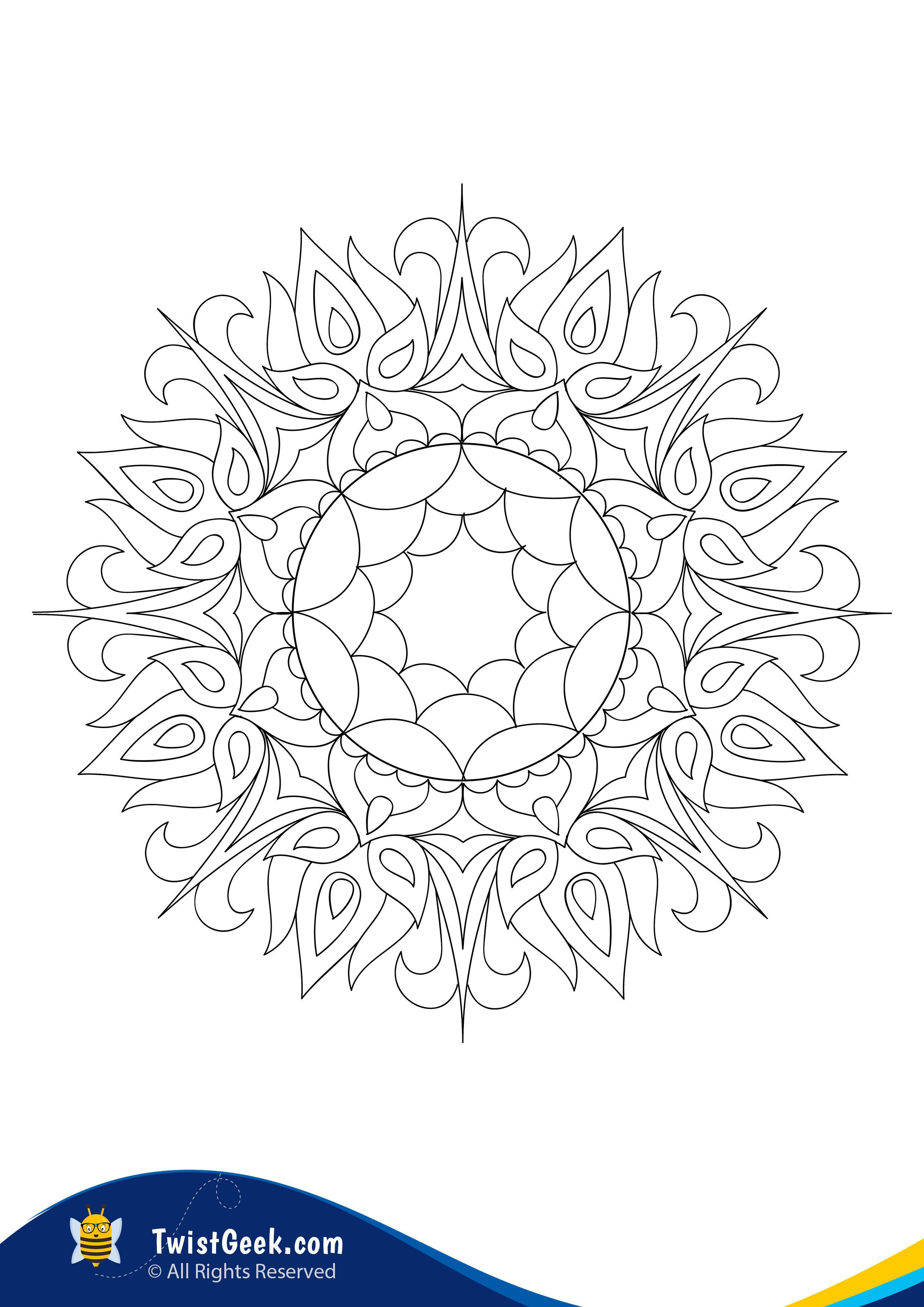 Beautiful Mystical Mandala Coloring Pages