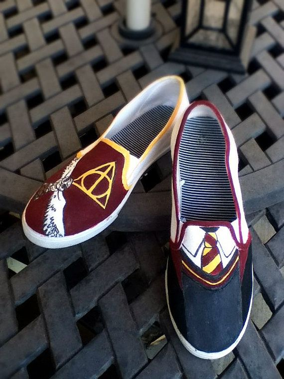 f06def665e8 Harry Potter Shoes (made to order) on Etsy, $40.00 | Clothing ...