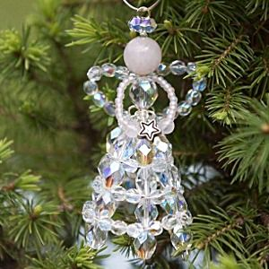 Christmas Tutorial   How To Make A Christmas Angel With Beads And Wire