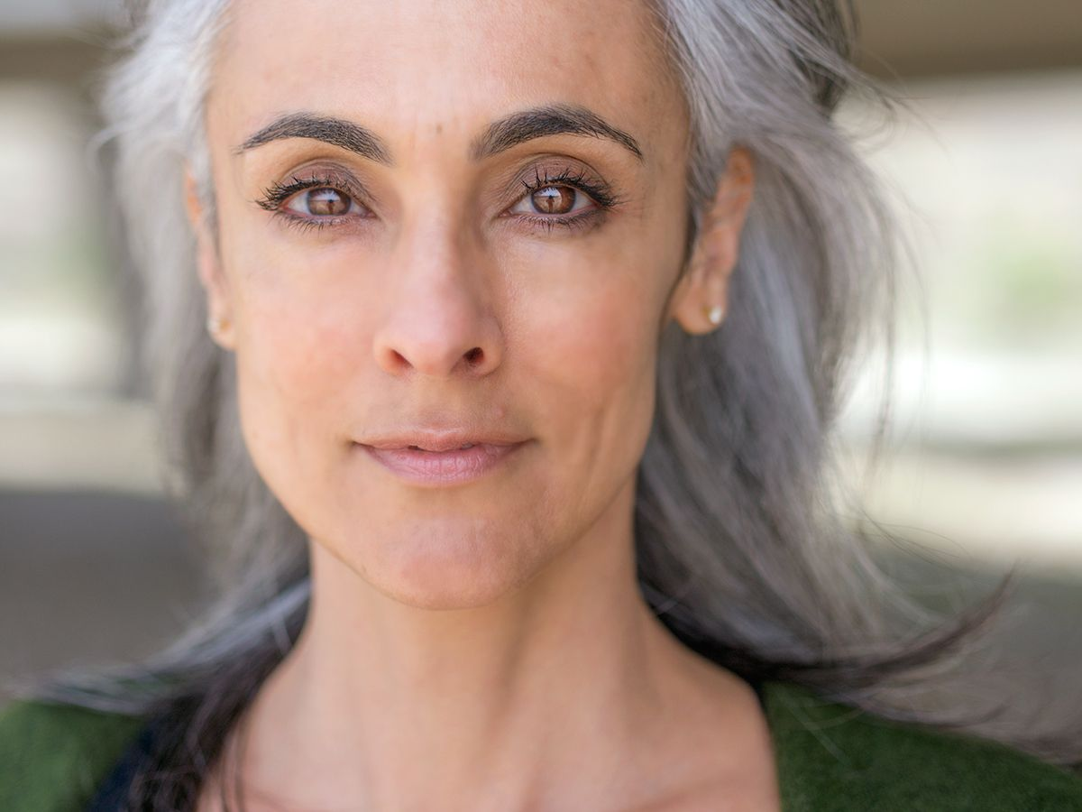 mature models with grey hair