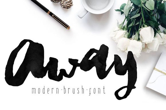 Modern brush lettered fonts you ll love fonts calligraphy
