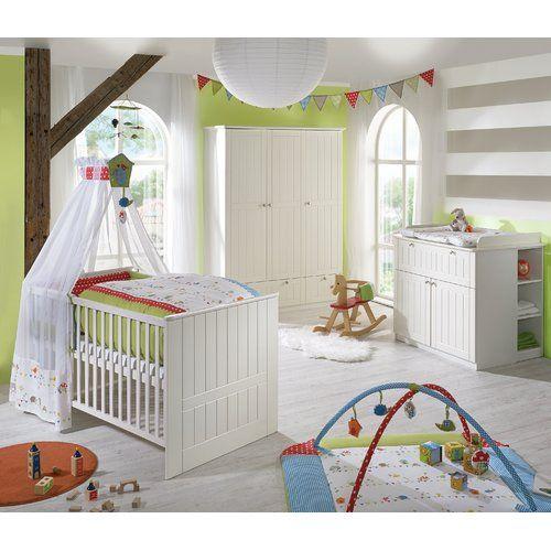 Safari komplett Set Babyzimmer Babybett Kinderbett Wickelkommode Schrank