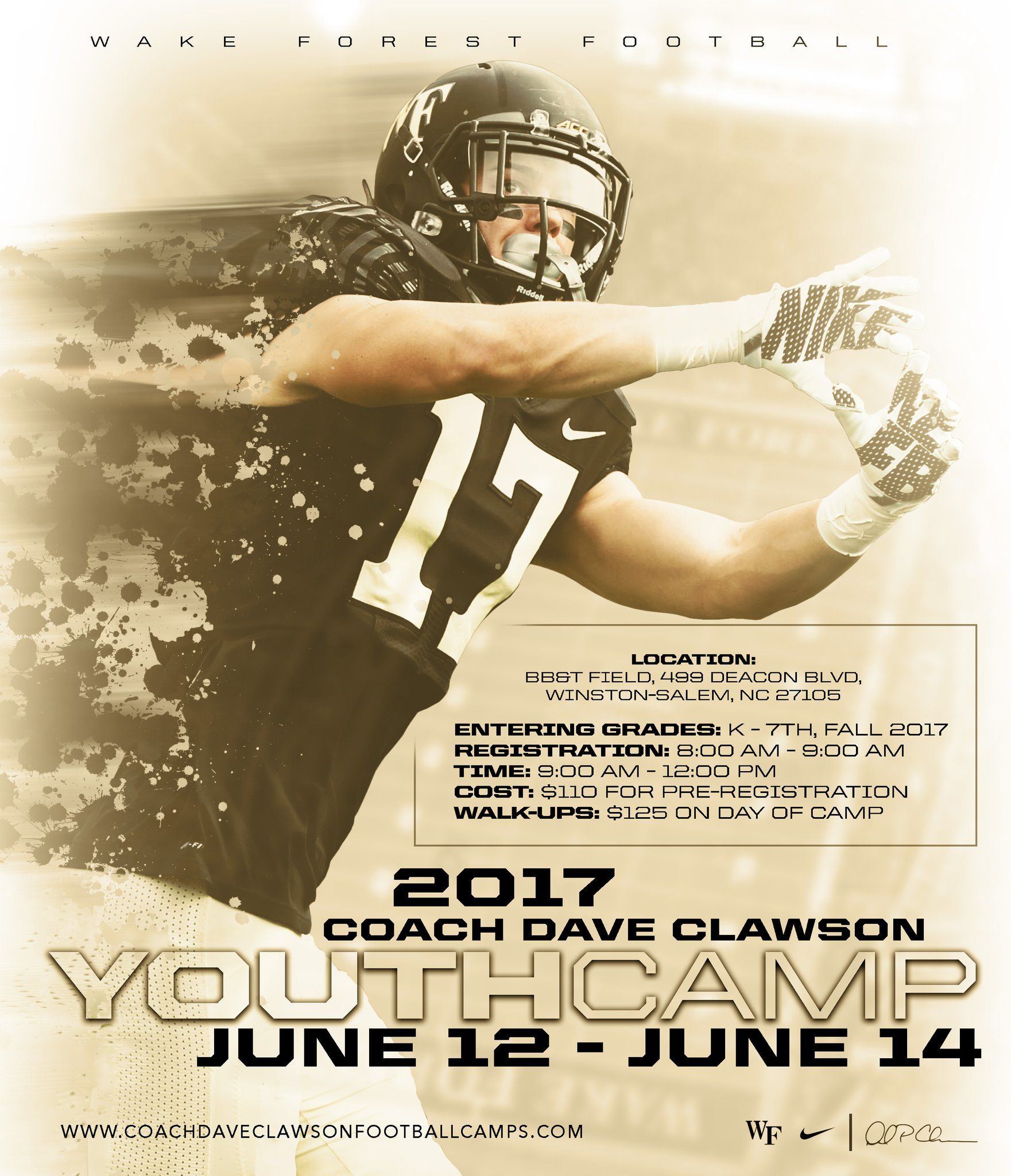Wake forest College athletics, Clinic, Camping 2017